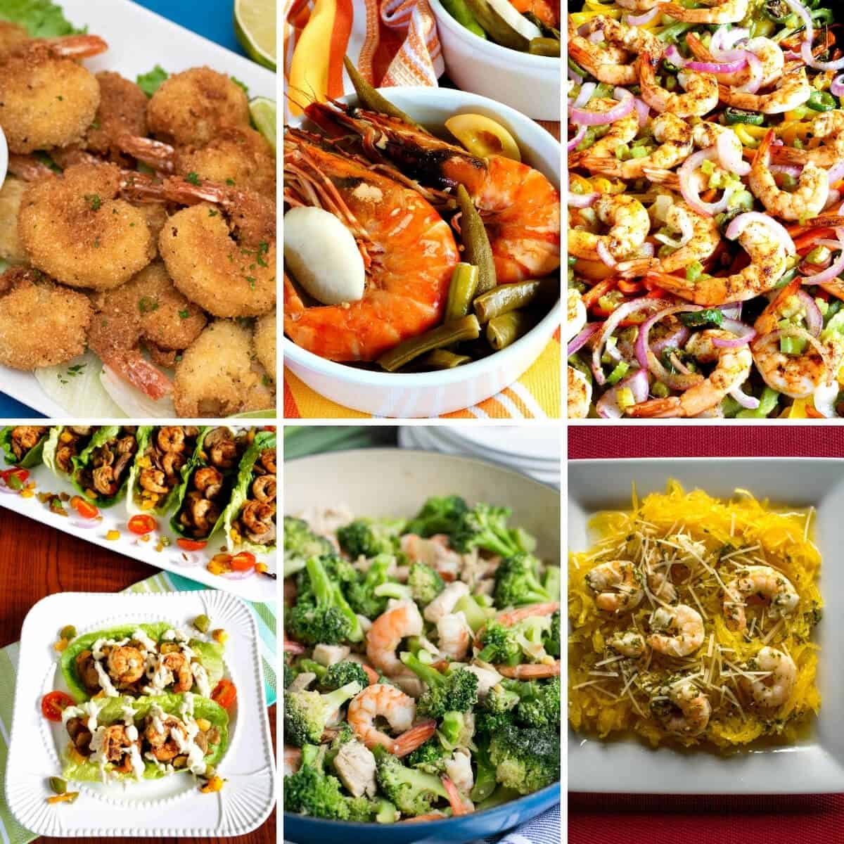 keto shrimp recipes collage square