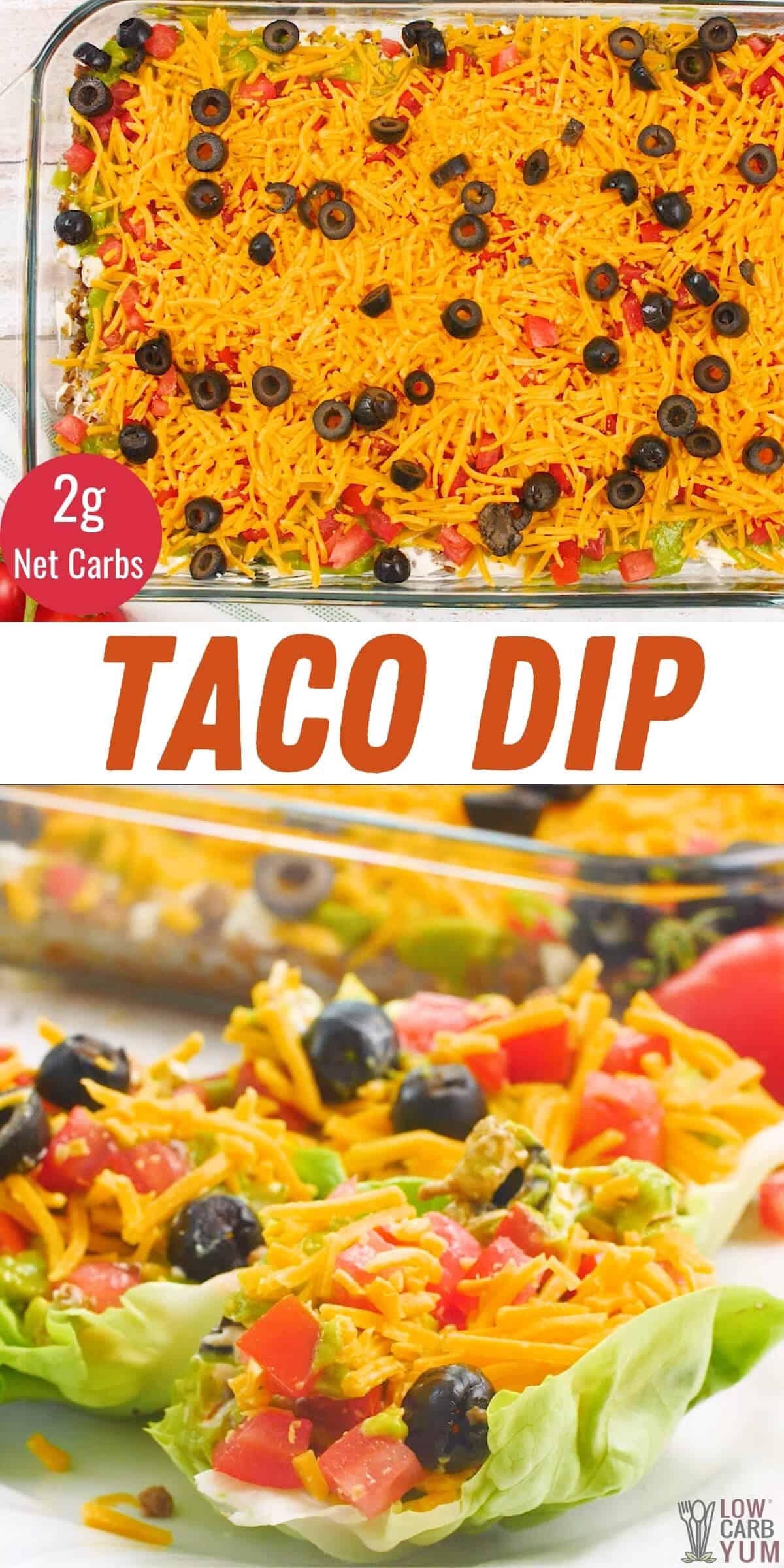taco dip pinterest image