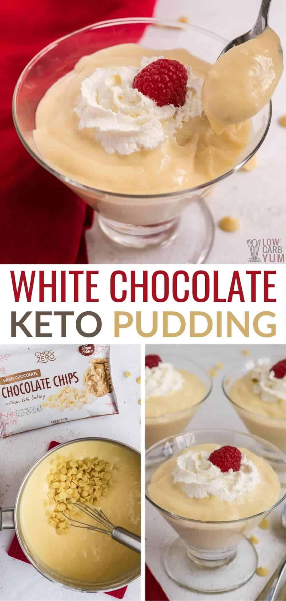 keto white chocolate pudding pinterest image