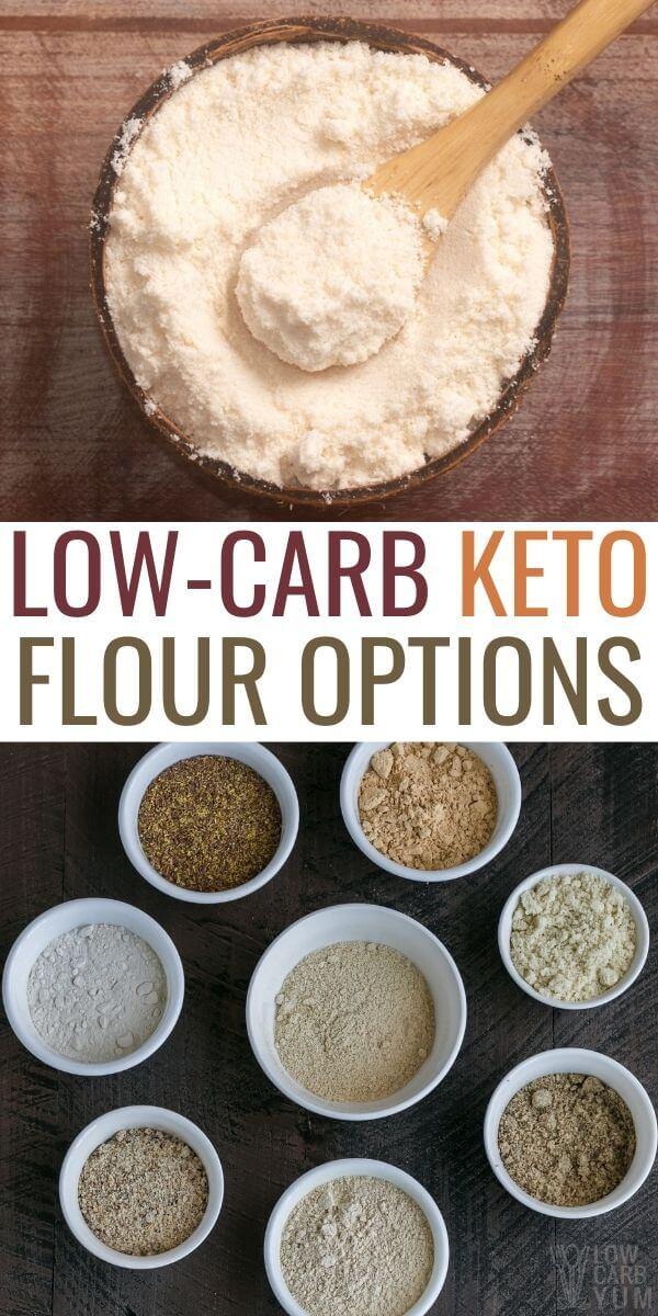 low carb keto flour options pinterest image