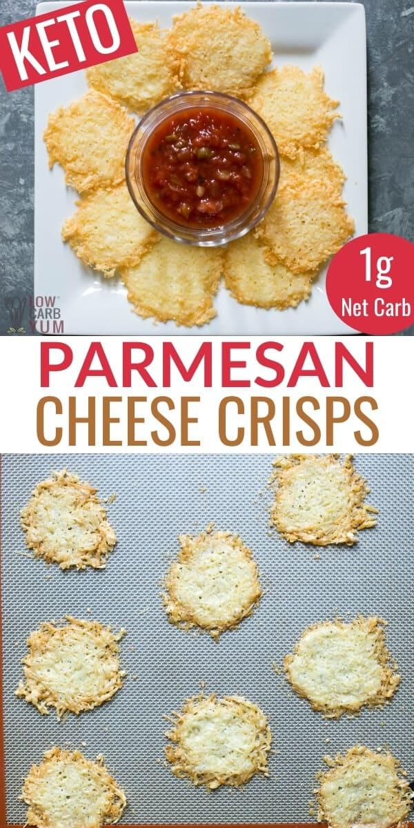 parmesan cheese crisps pinterest image