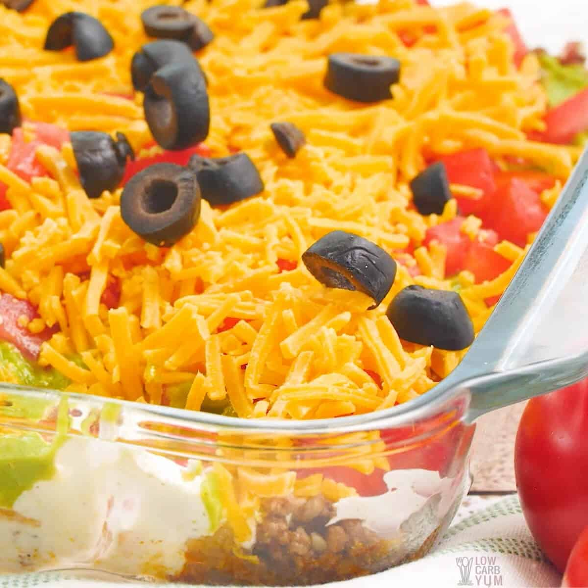 taco dip with meat featured image