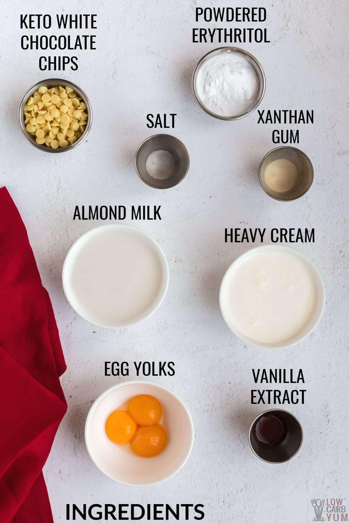 white chocolate pudding ingredients