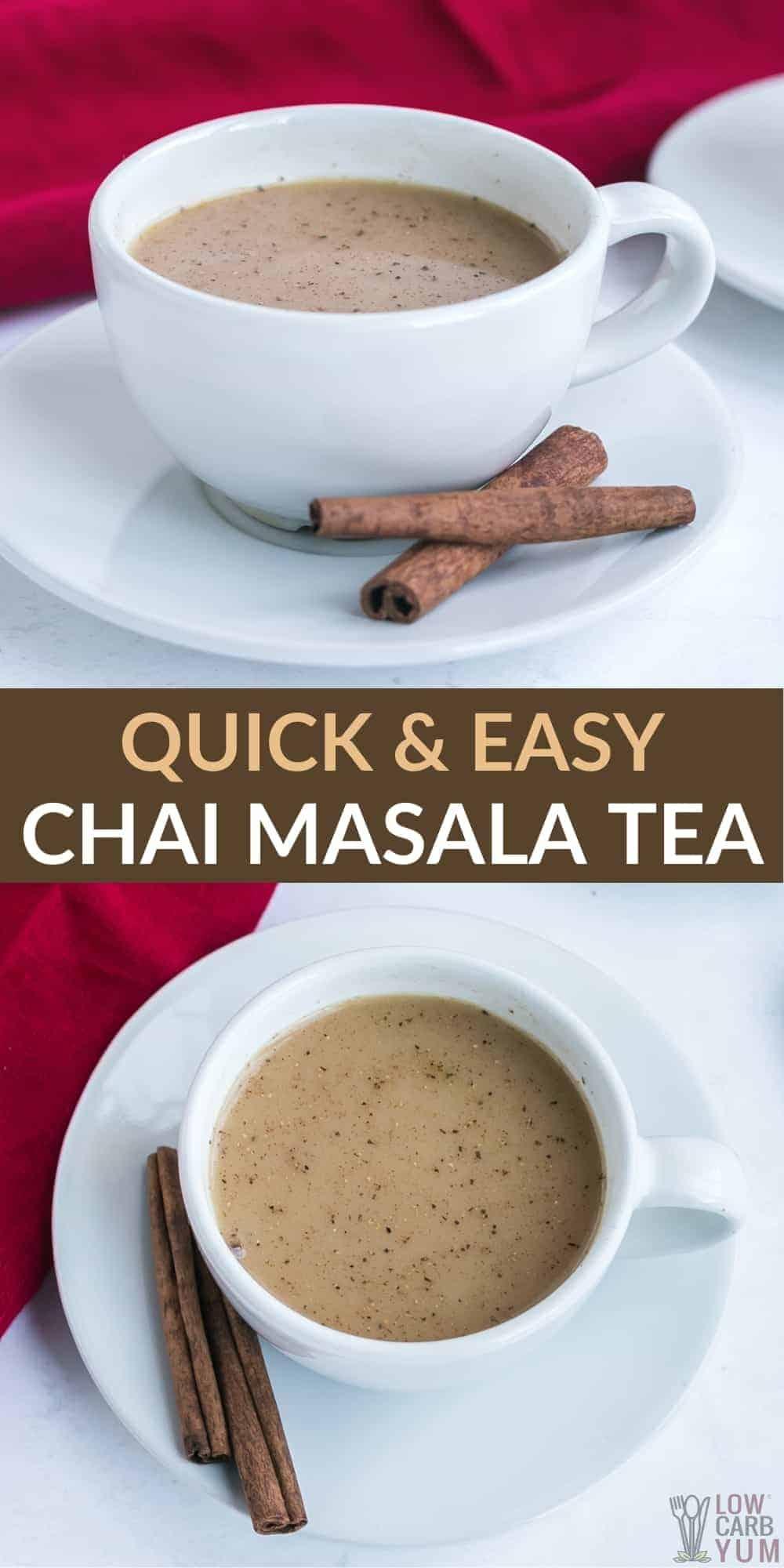 quick and easy chai masala tea pinterest image