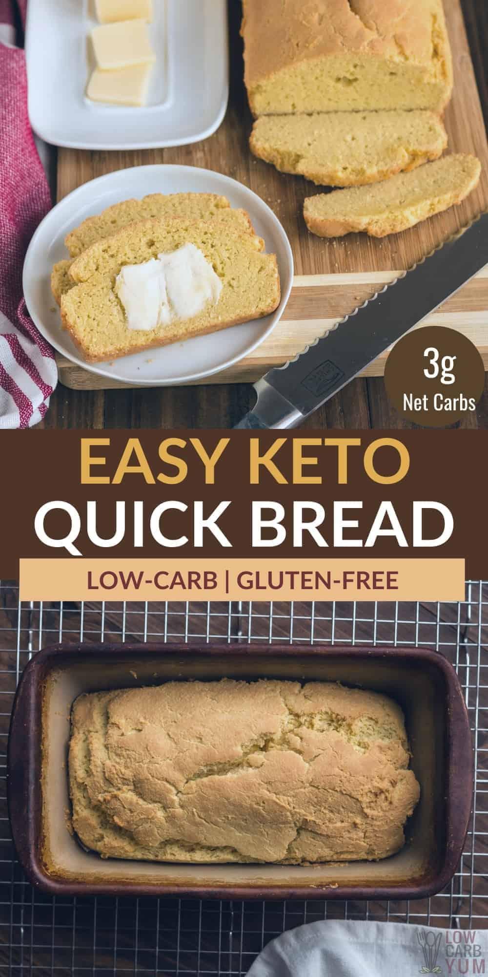 easy keto quick bread pinterest image