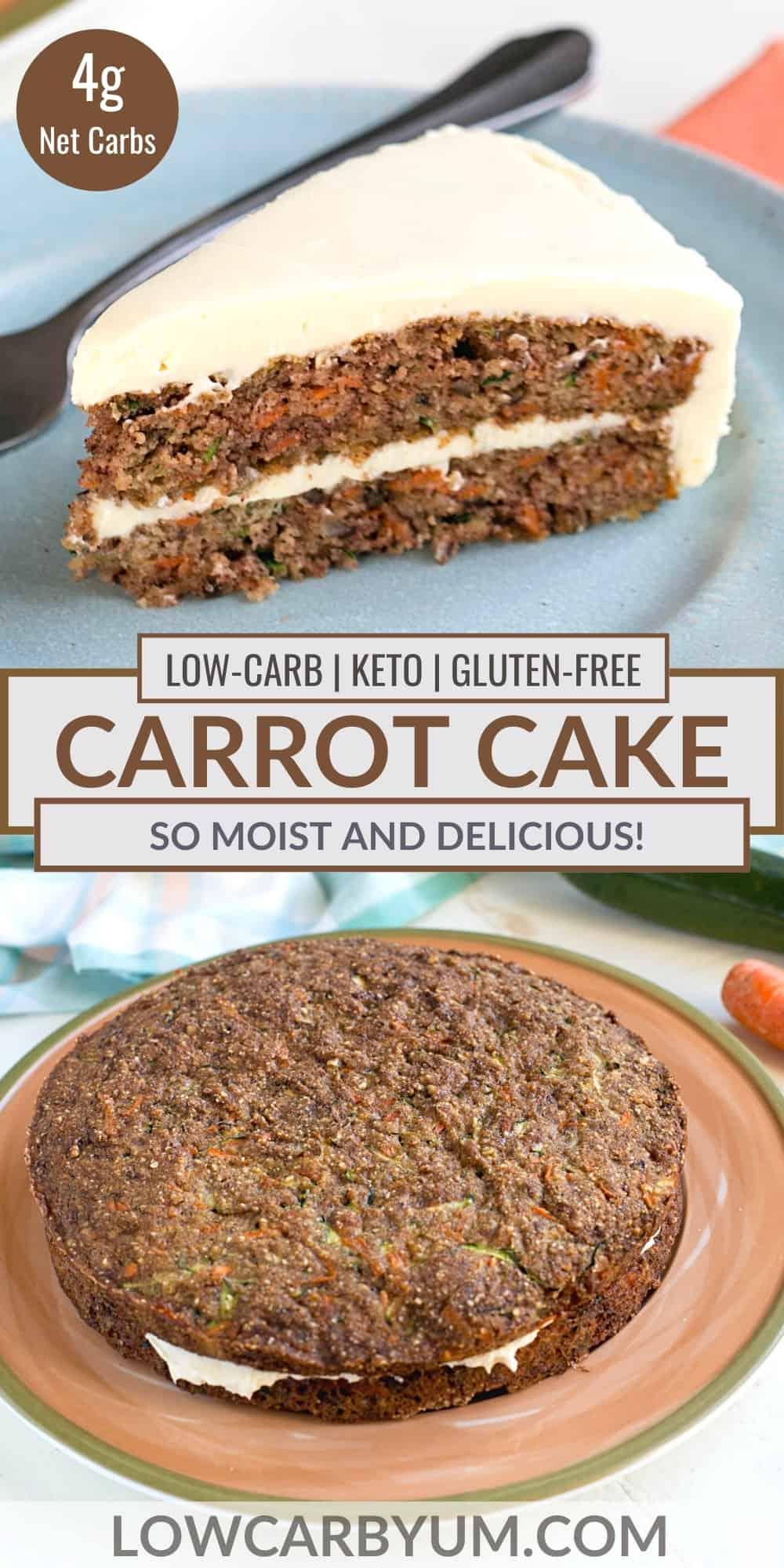 keto carrot cake pinterest image
