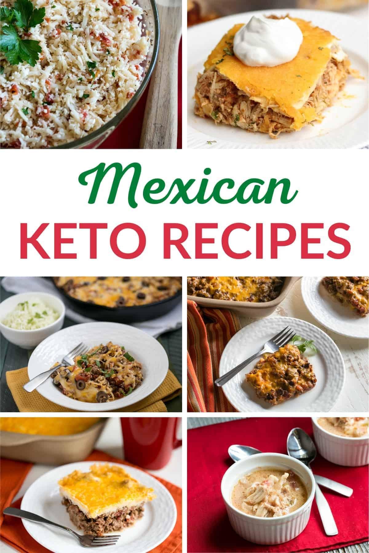 keto mexican recipes pinterest image