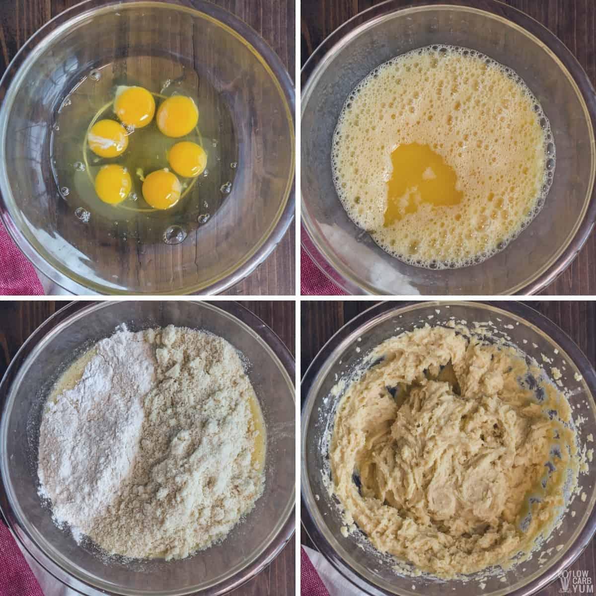 making the keto bread batter