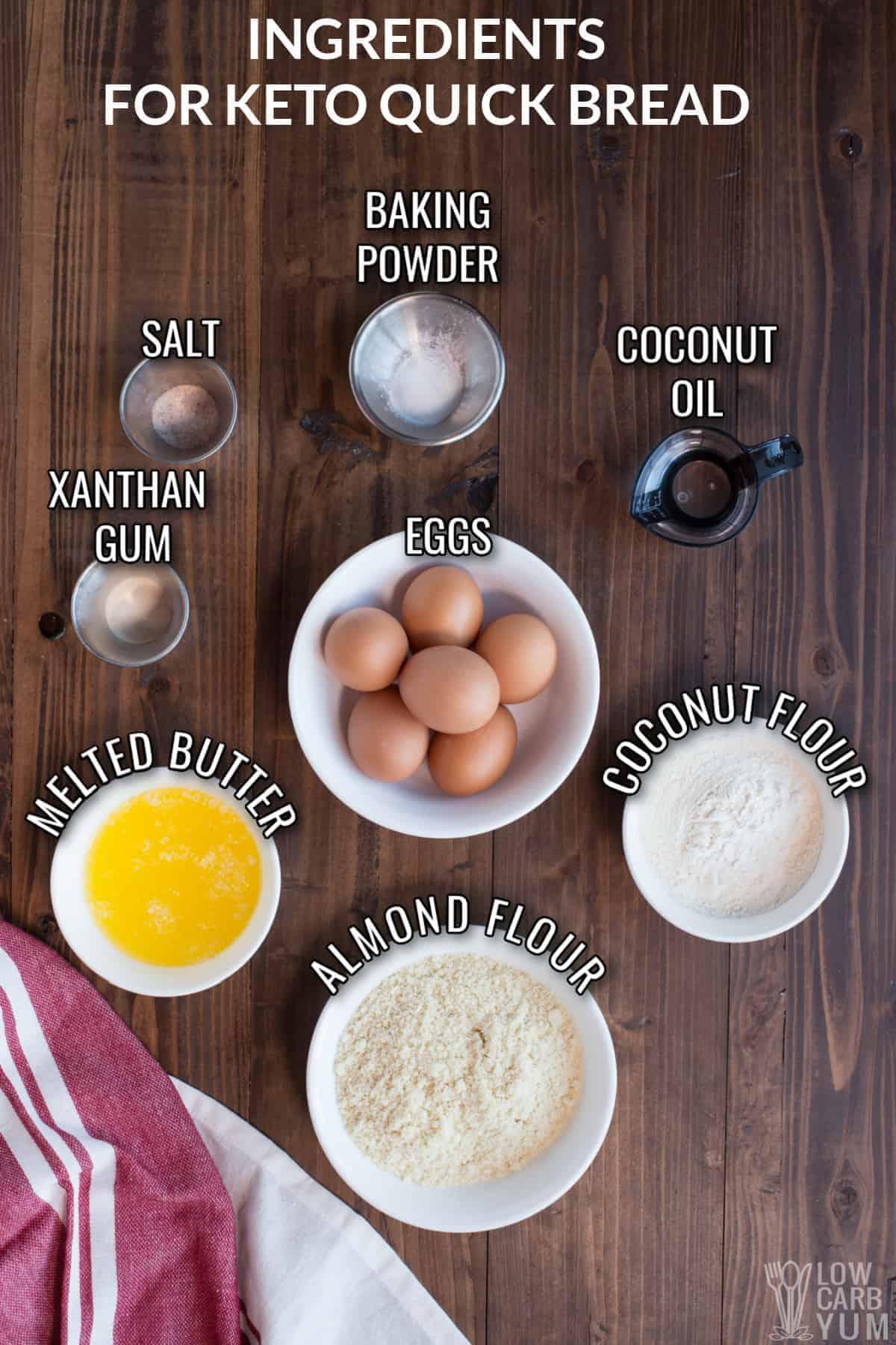 quick keto bread recipe ingredients