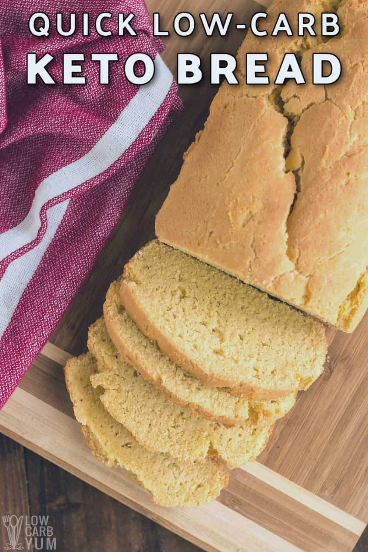 quick keto low carb bread recipe cover image