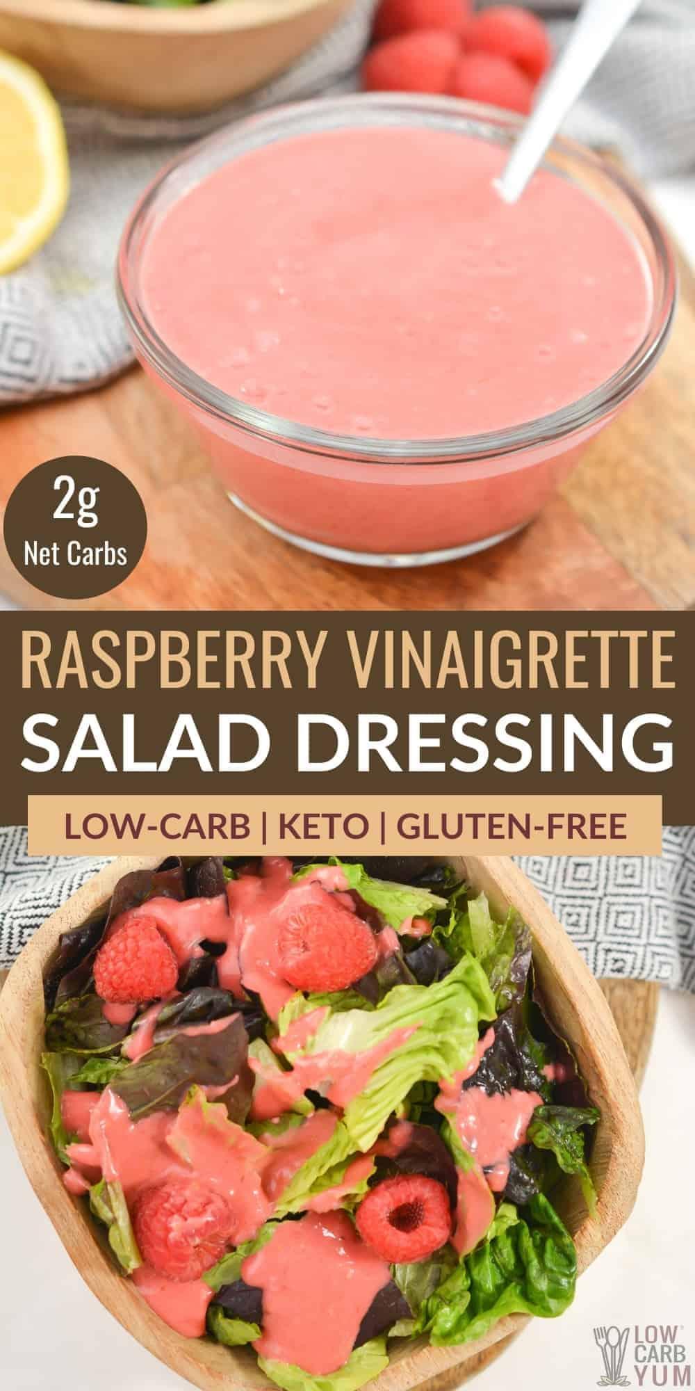 raspberry vinaigrette pinterest image
