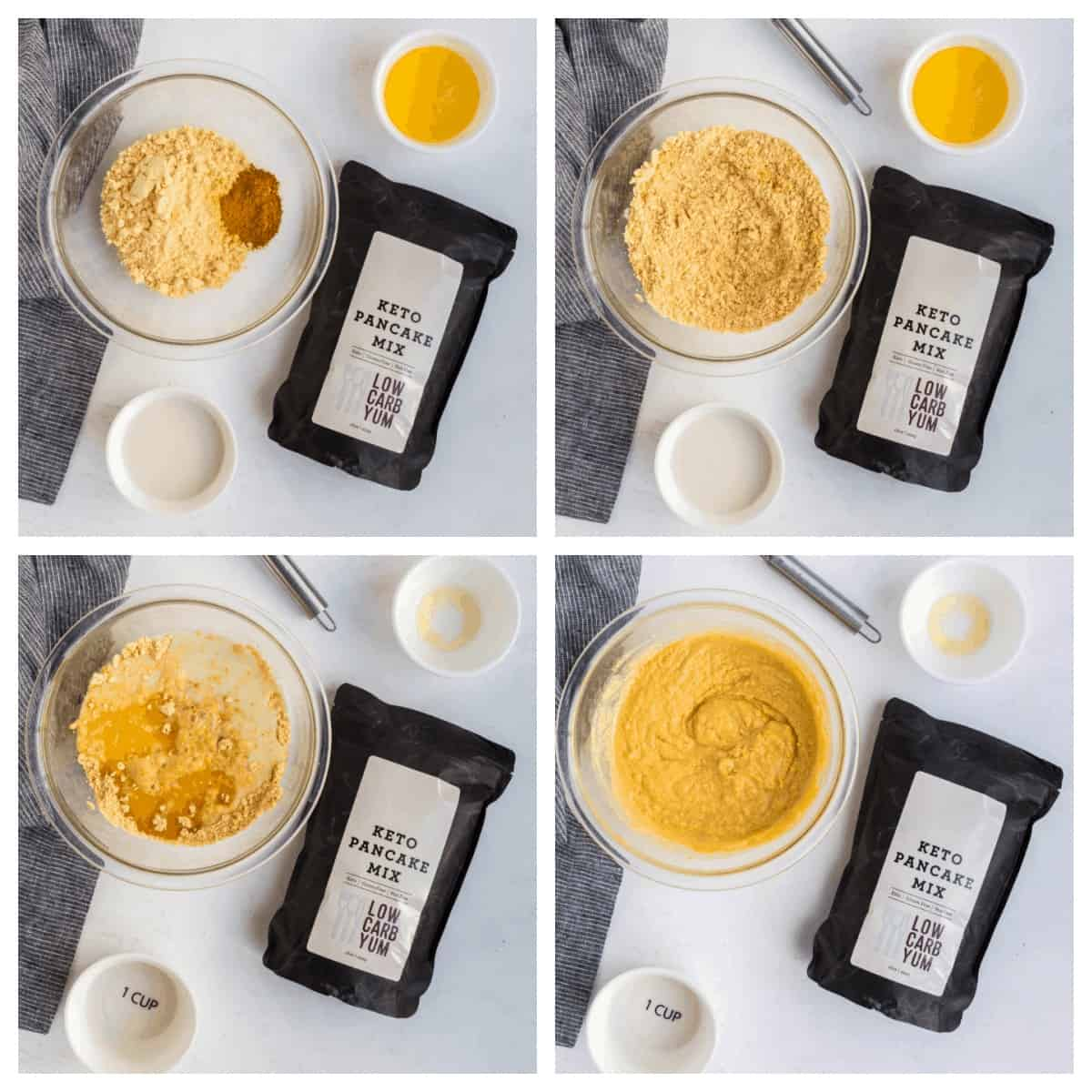 making batter for turmeric muffins