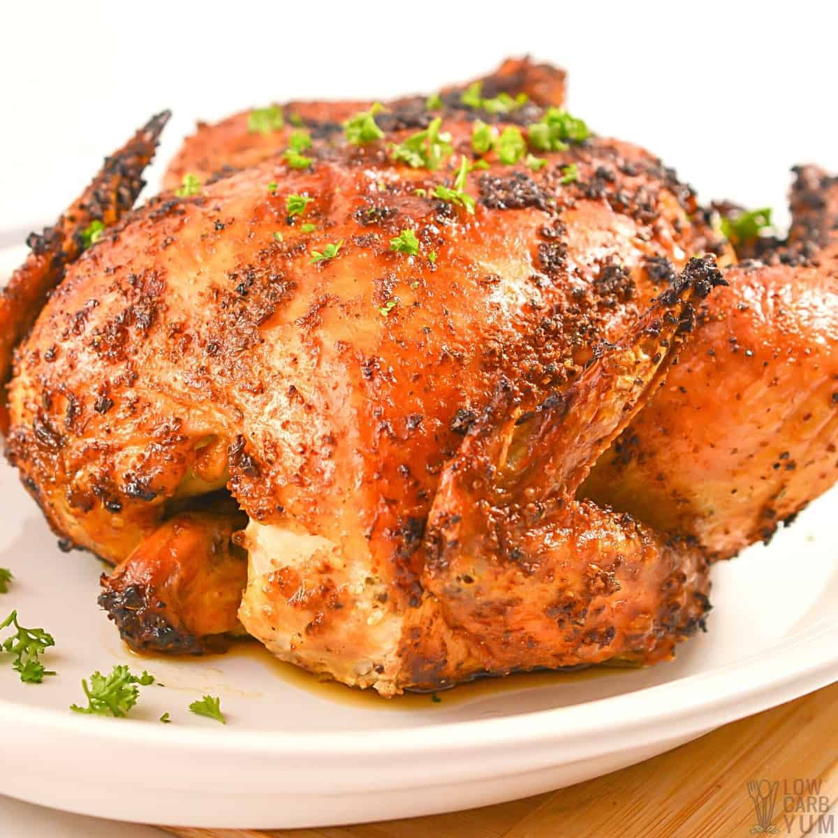air fryer whole chicken featured image