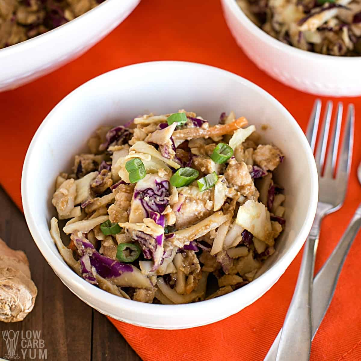 asian keto canned chicken salad recipe featured image
