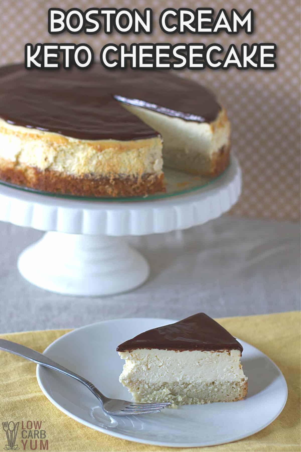 boston cream pie cheesecake recipe cover image