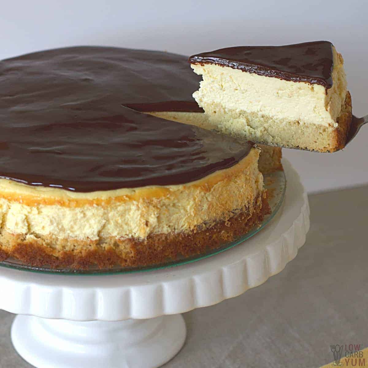 boston cream pie cheesecake recipe featured image