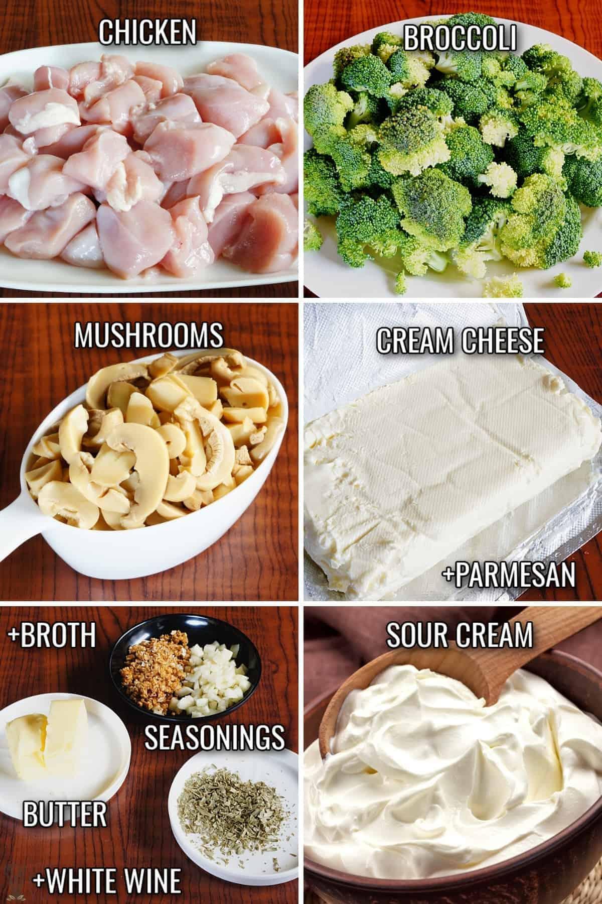 chicken broccoli casserole ingredients