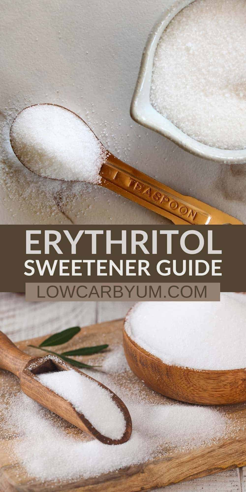 erythritol sweetener pinterest image