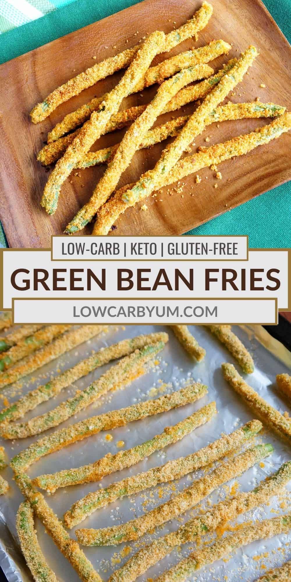 green bean fries pinterest image