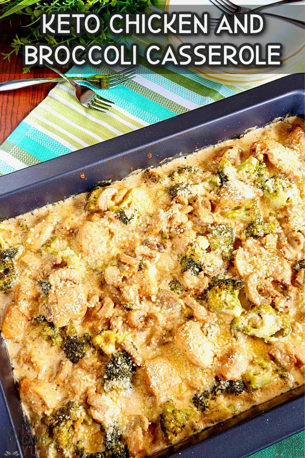 keto chicken broccoli casserole cover image