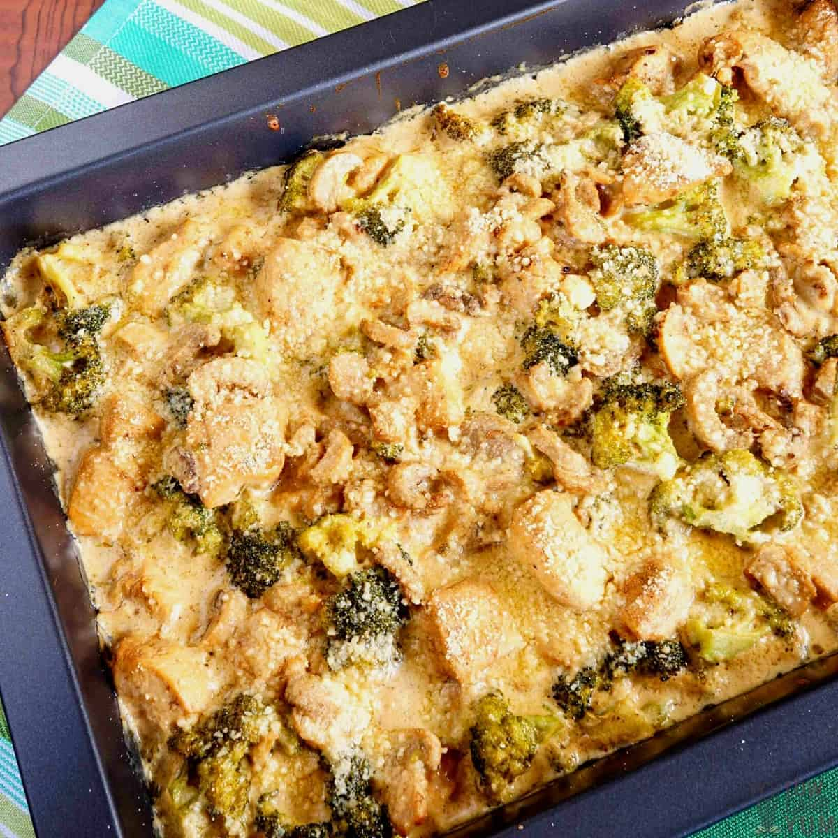 keto chicken broccoli casserole featured image