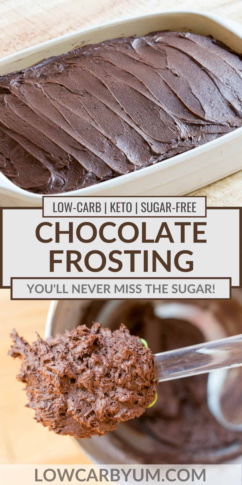 keto chocolate frosting pinterest image
