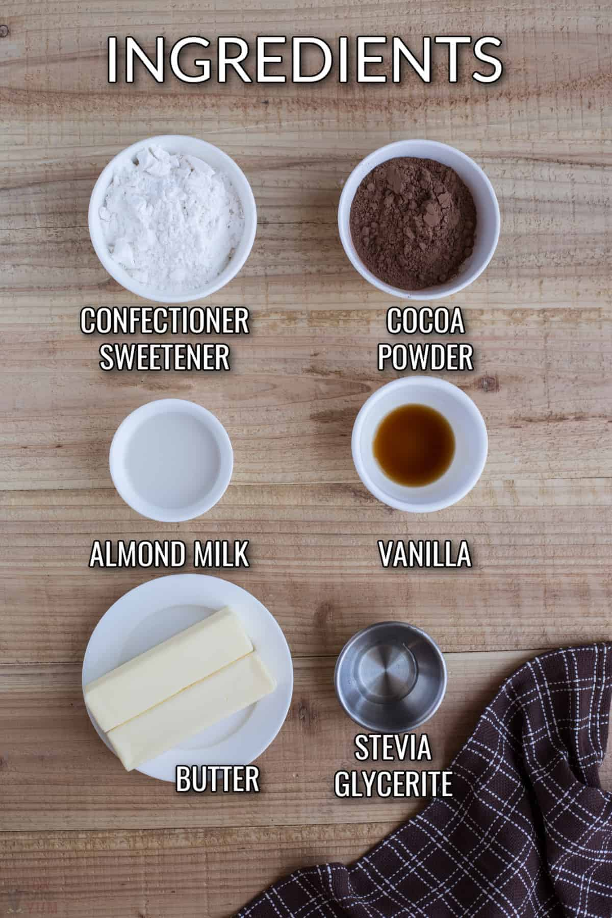 keto chocolate frosting recipe ingredients