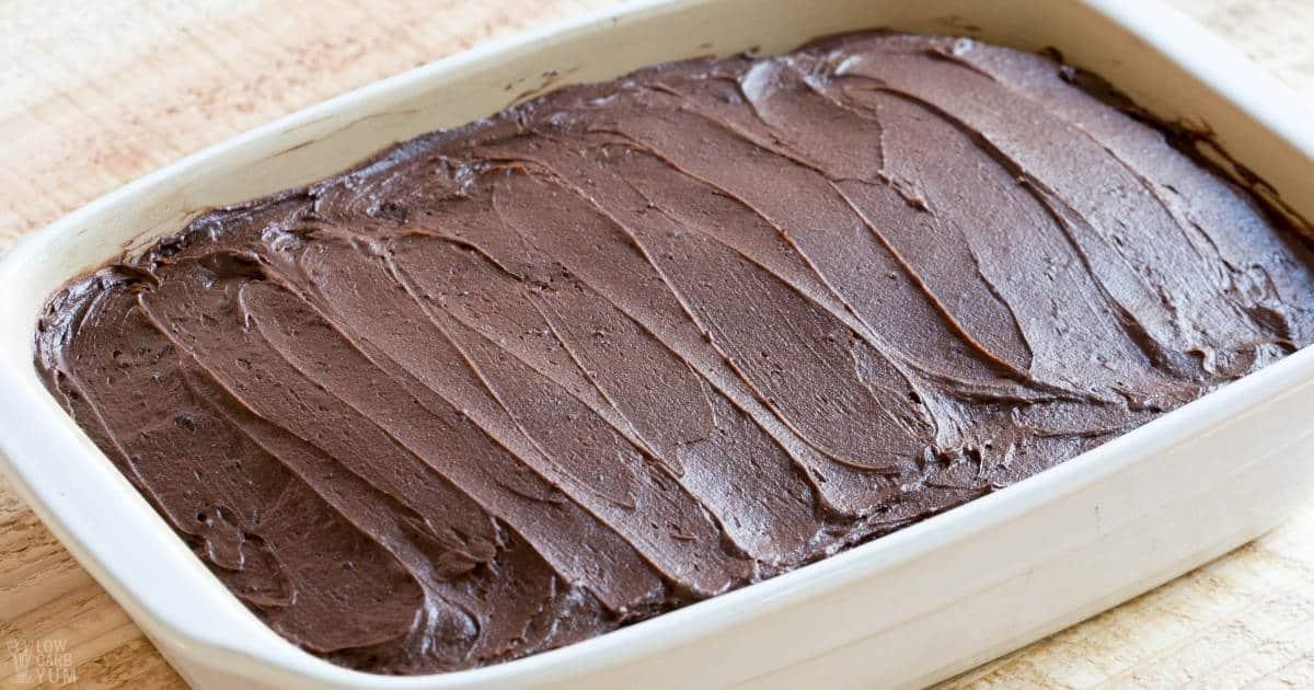 keto chocolate frosting social image