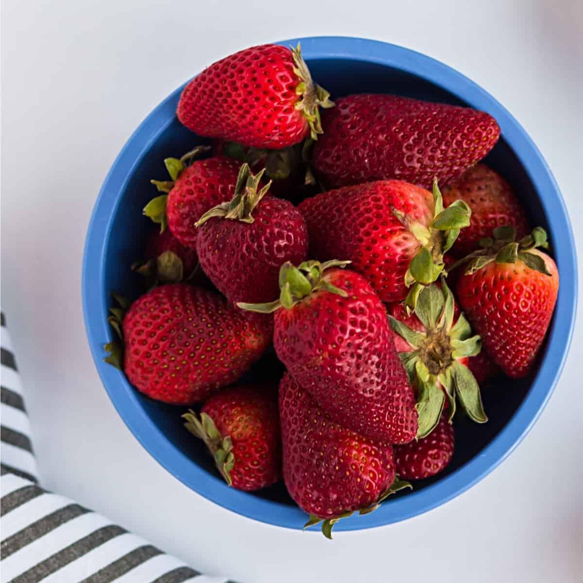 bowl of strawberries to enjoy as keto fruit