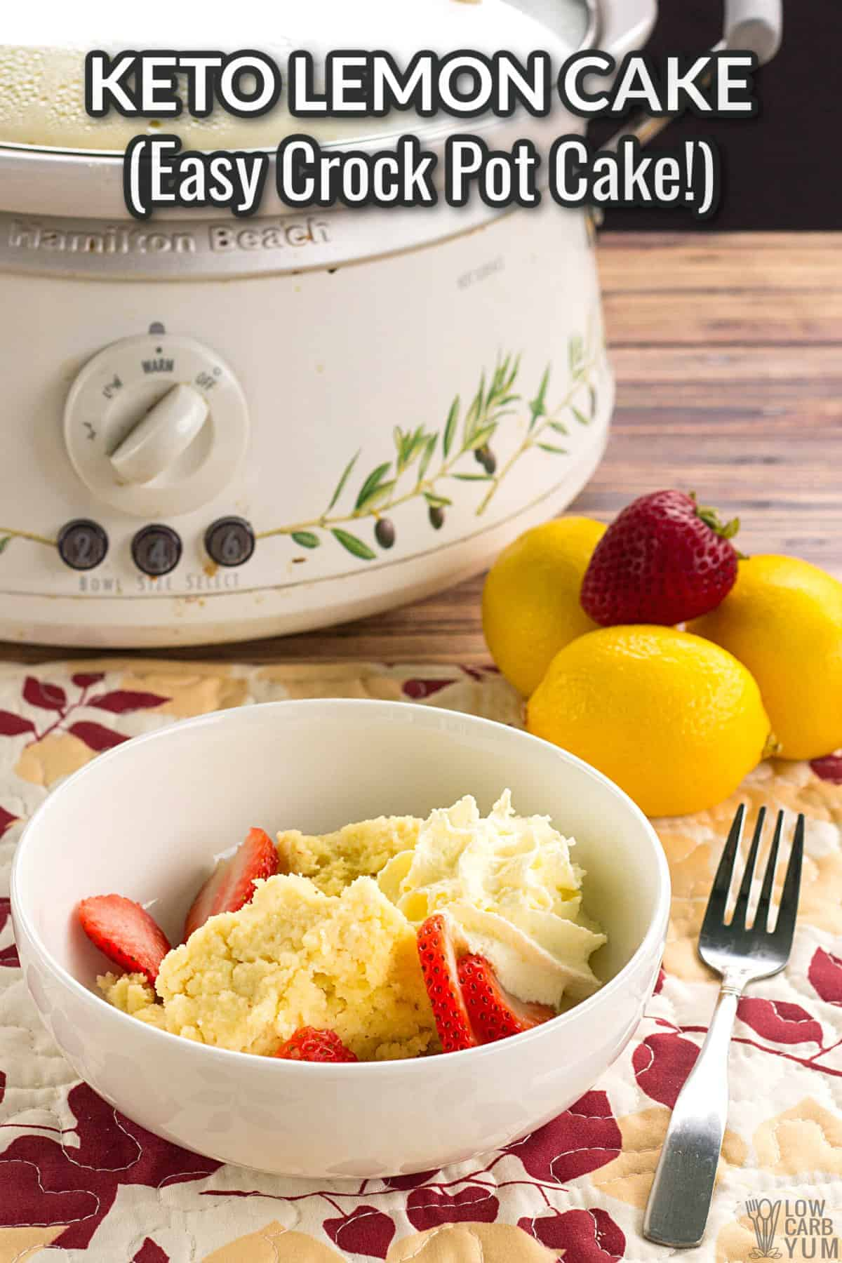 keto lemon cake crock pot dessert cover image
