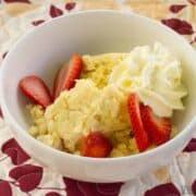 keto lemon cake crock pot dessert featured image