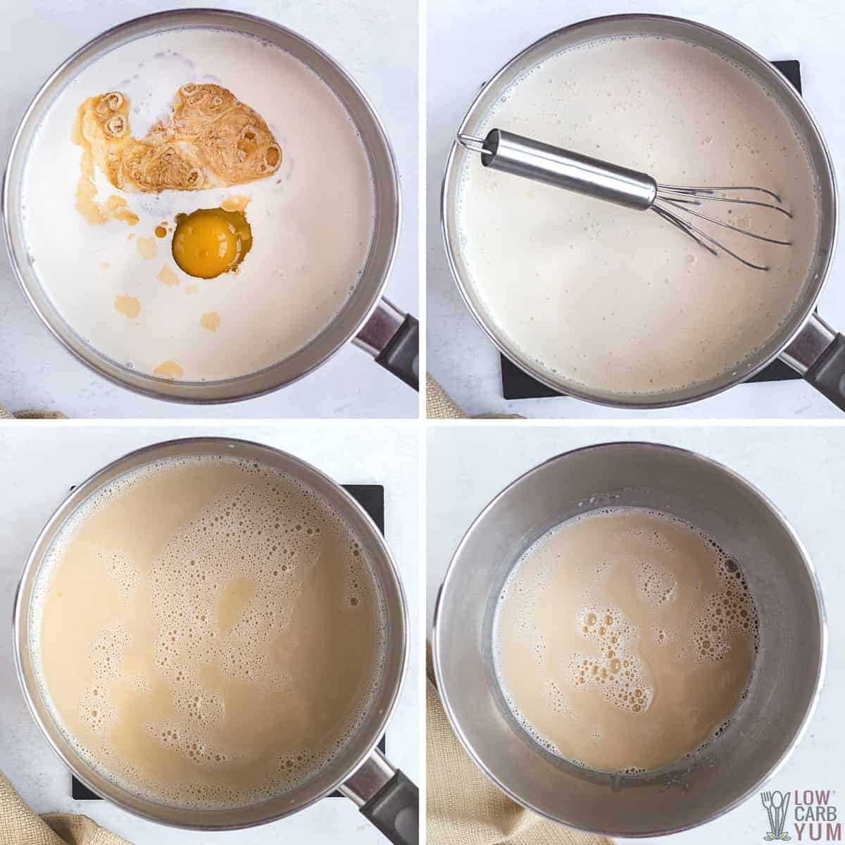 making the ice cream mixture