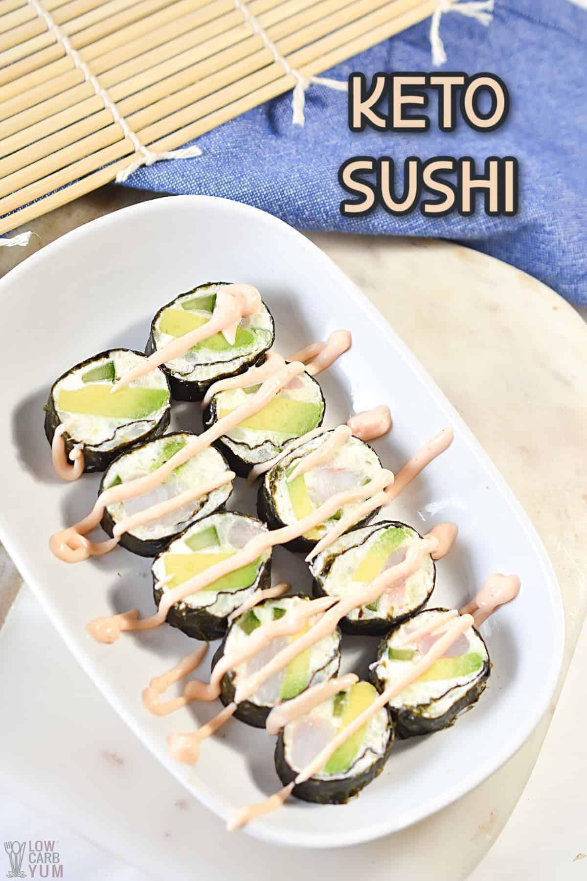 keto sushi cover image