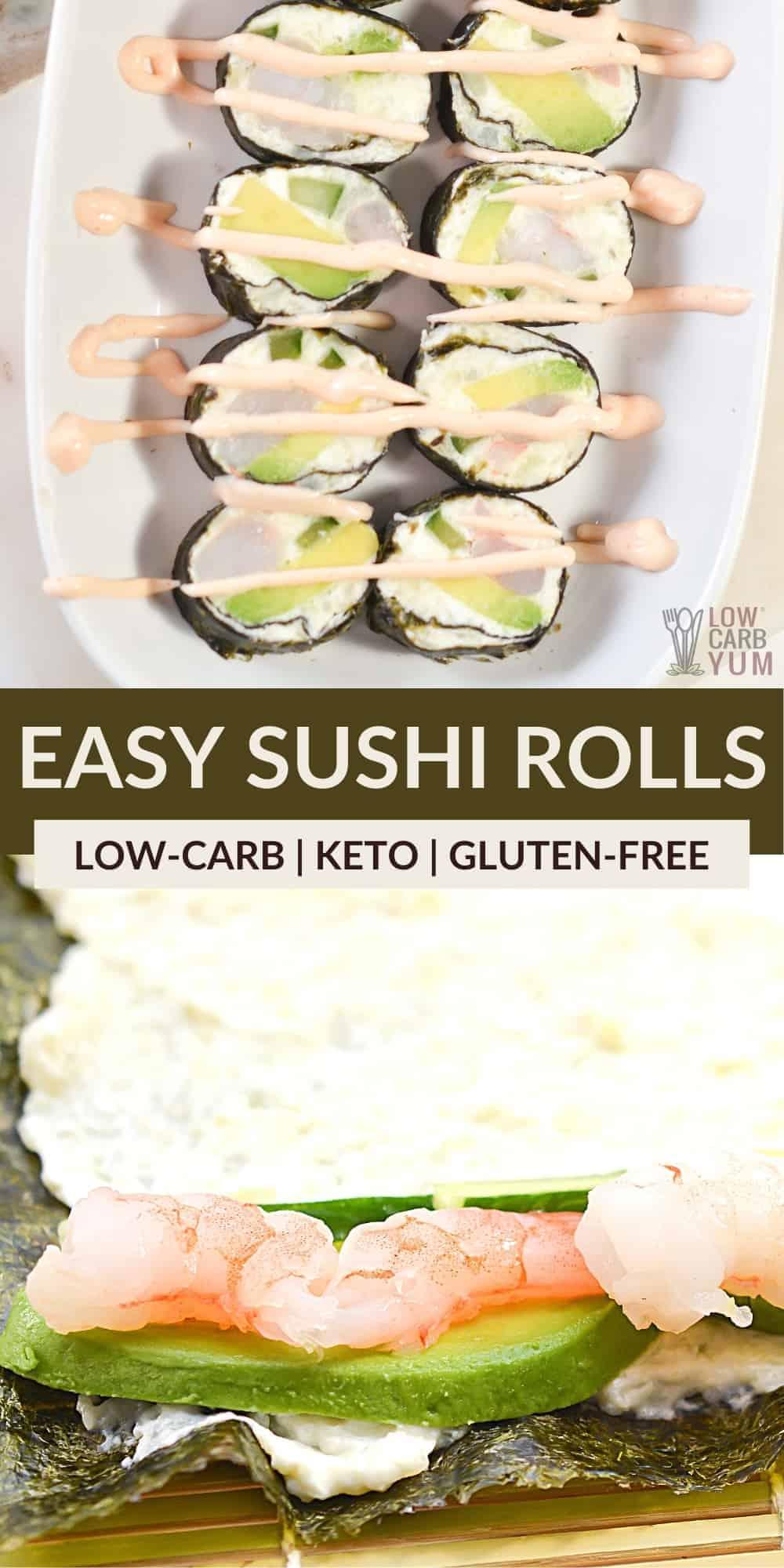 easy sushi rolls pinterest image