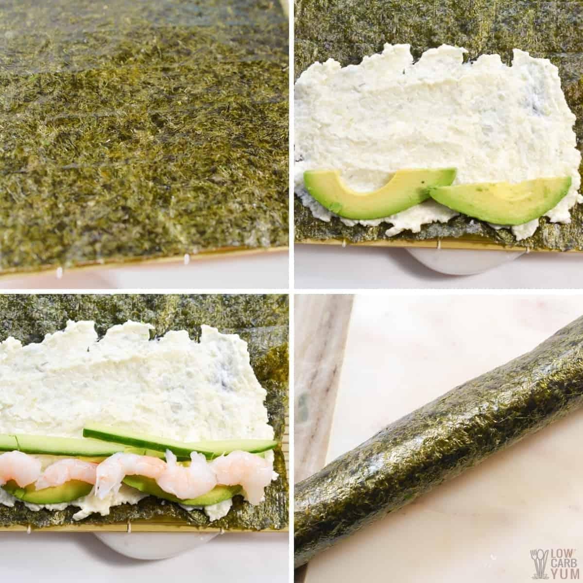 keto sushi rolls recipe steps