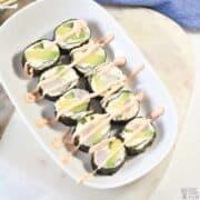 keto sushi rolls featured image