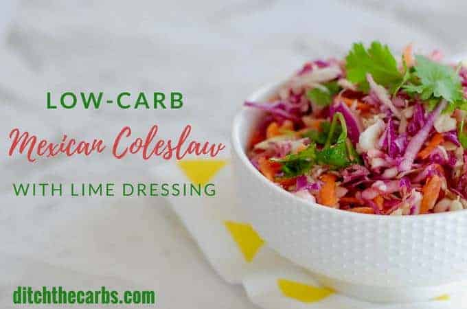 Low-Carb Mexican Coleslaw with Lime Dressing