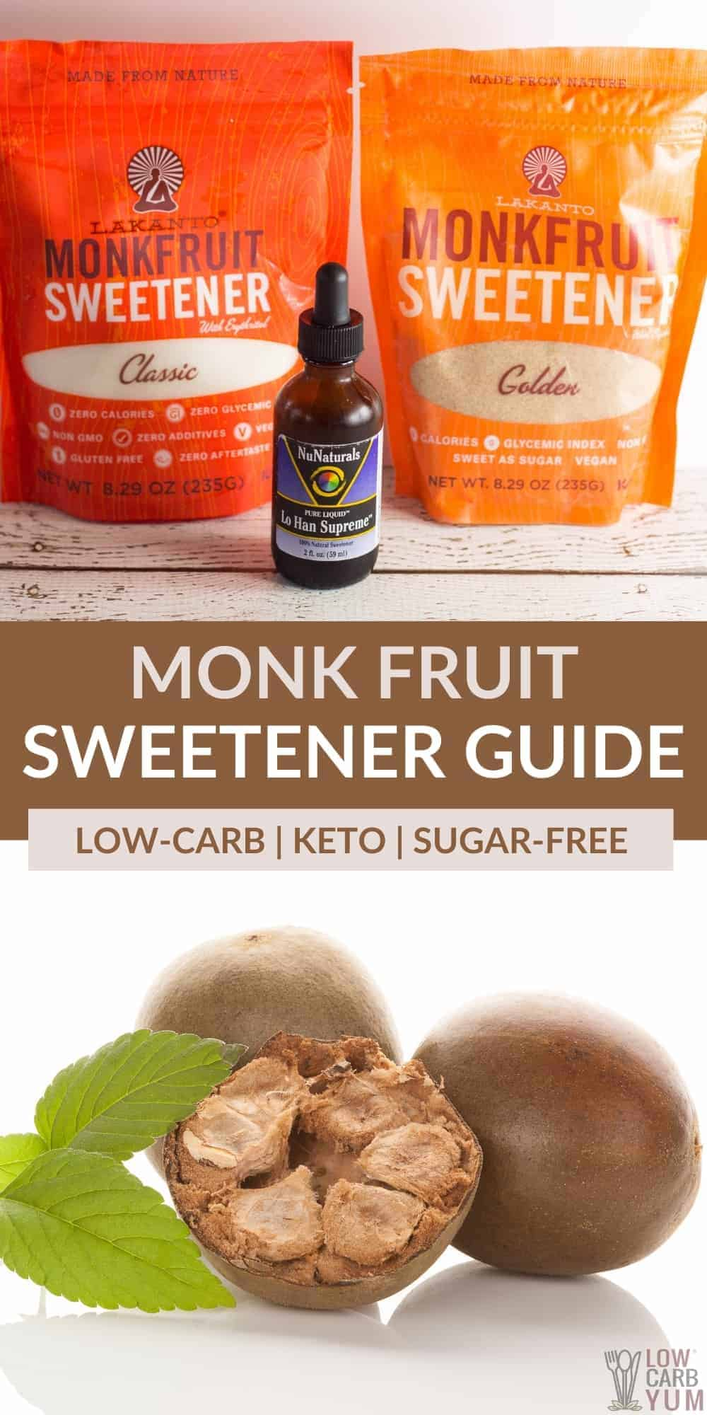 monk fruit sweetener guide pinterest image