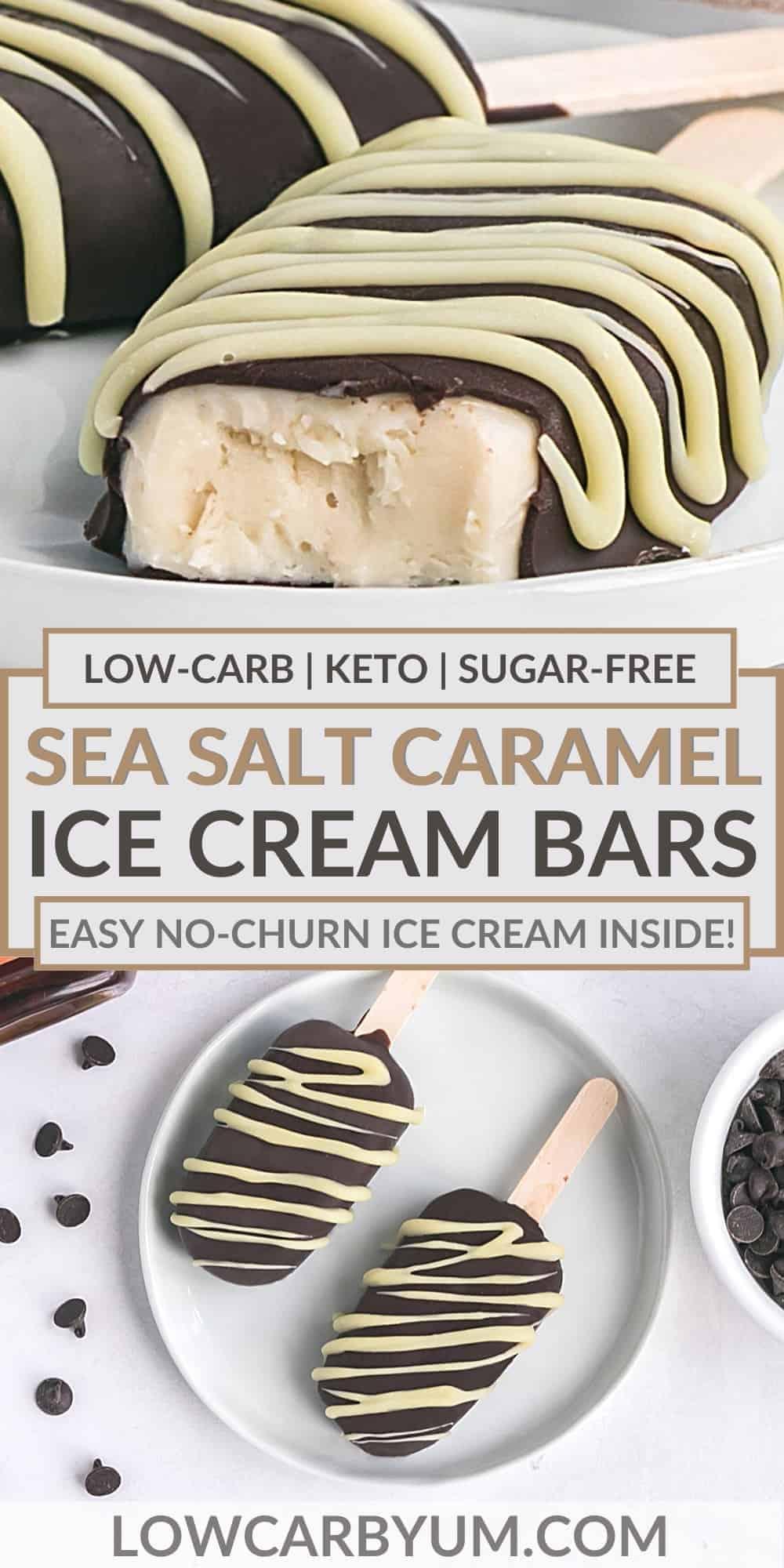 sea salt caramel ice cream bars pinterest image