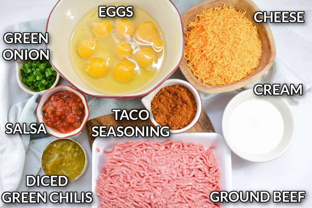 ingredients used in the mexican keto  recipe