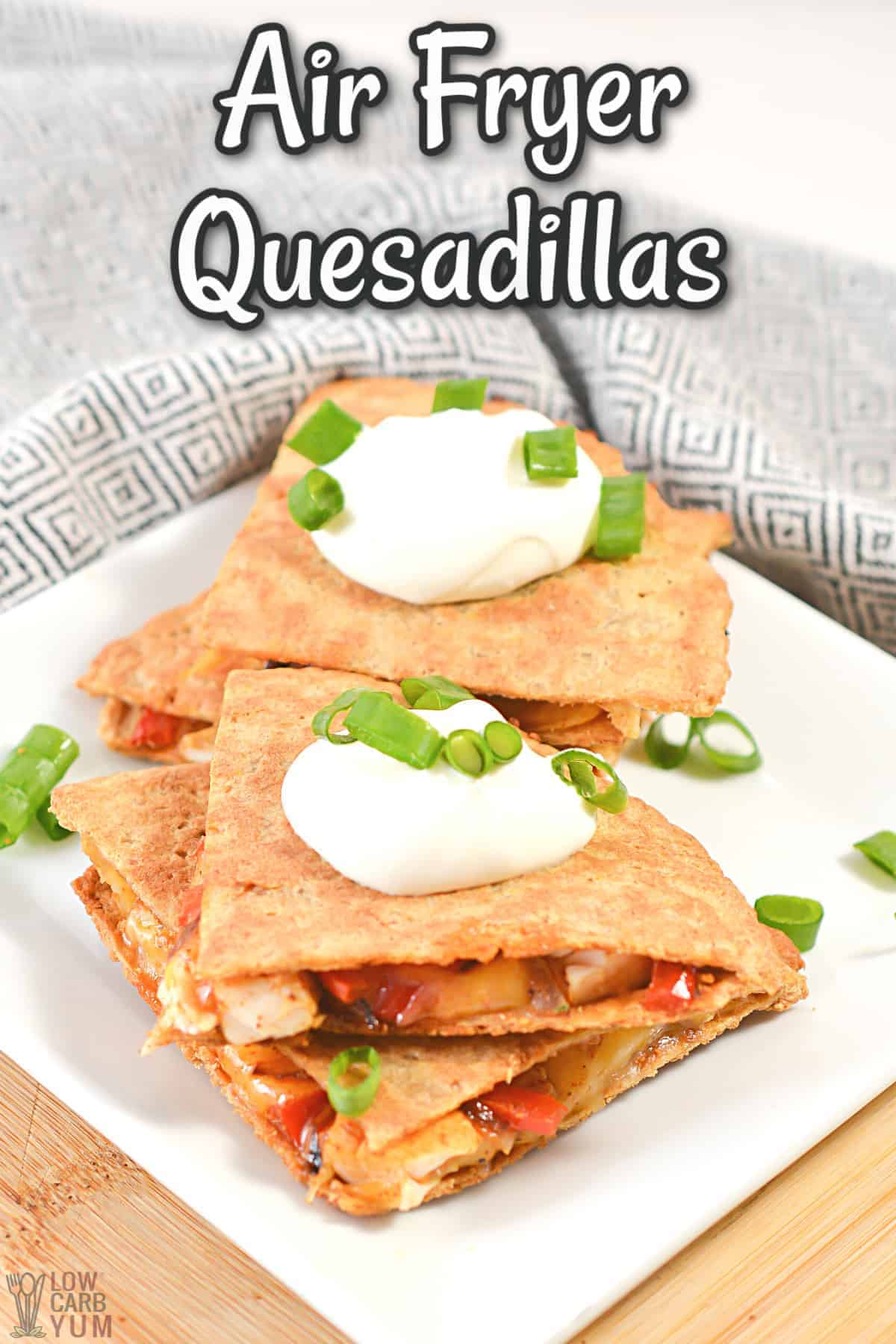 air fryer quesadillas cover image