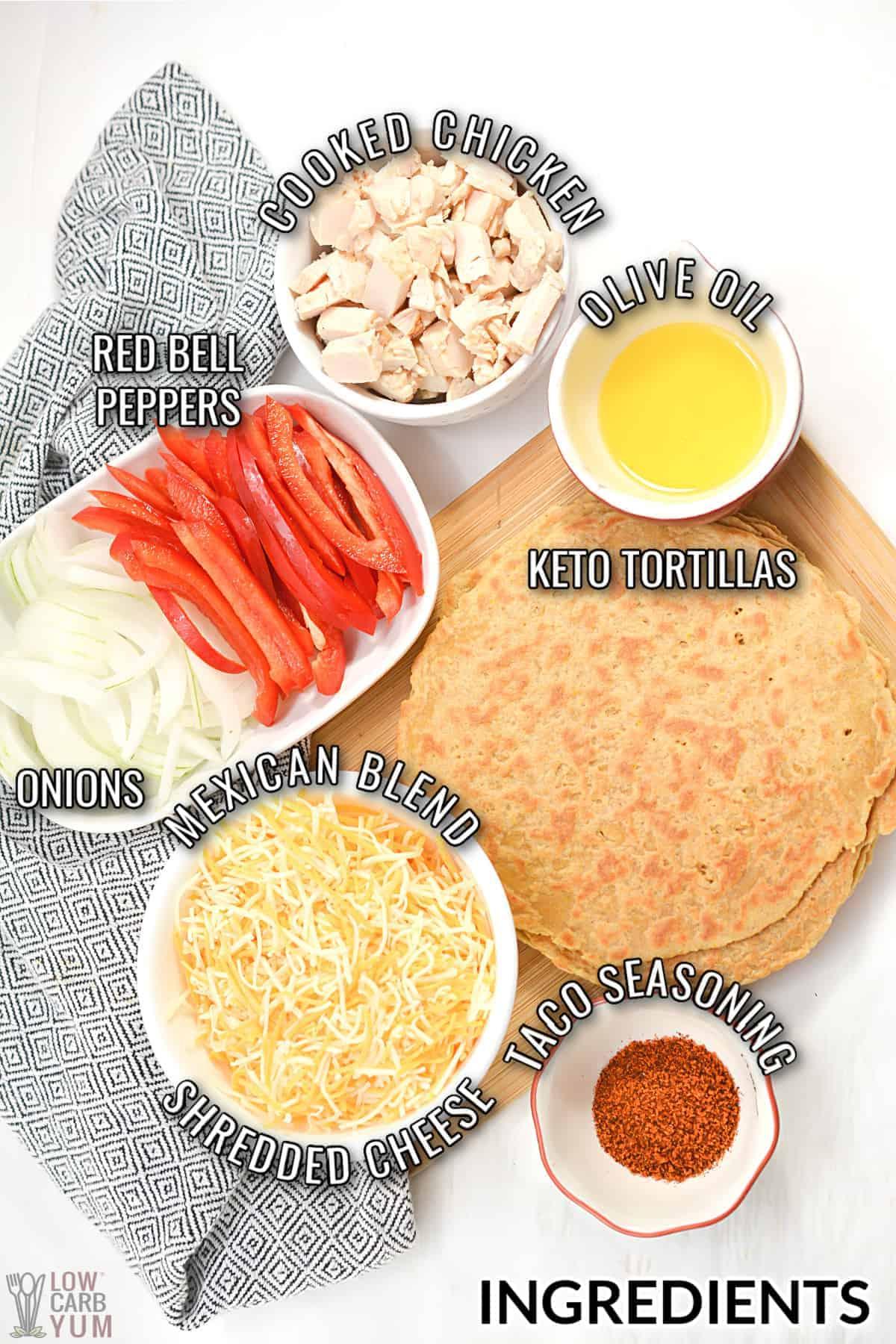 air fryer quesadillas ingredients