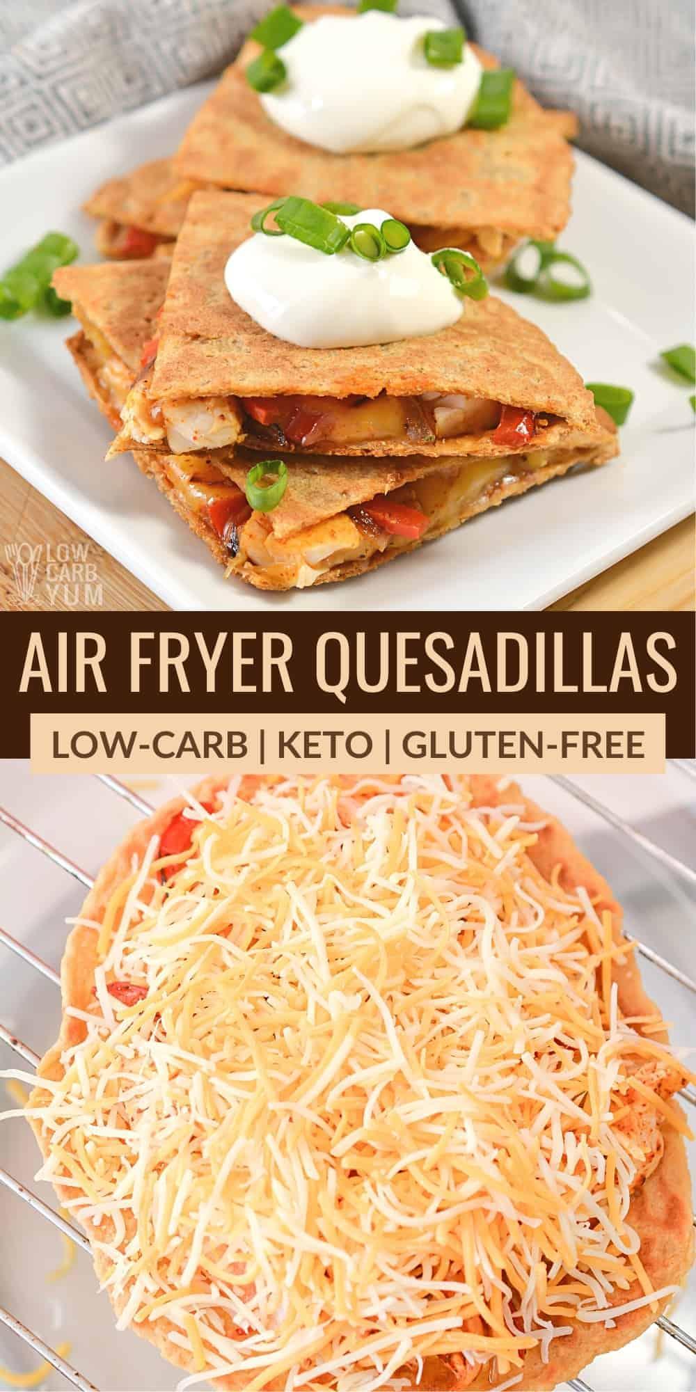 air fryer quesadillas pinterest image