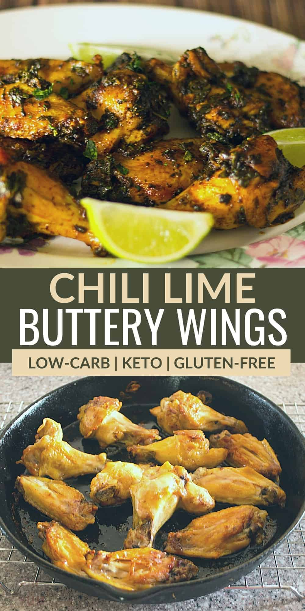 chili lime buttery wings pinterest image