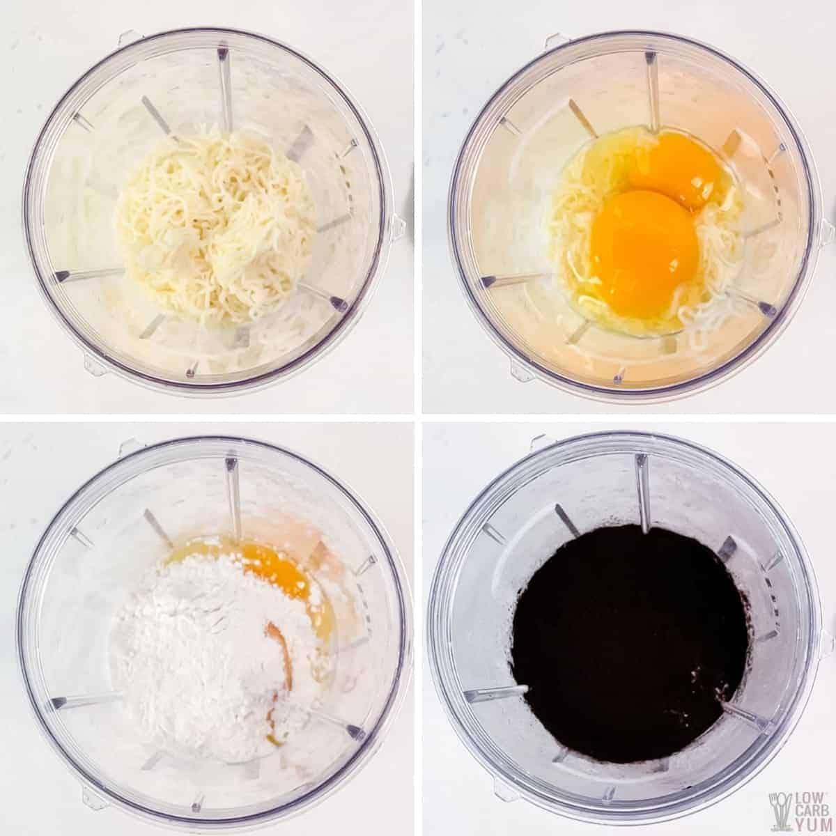 chaffle ingredients in blender