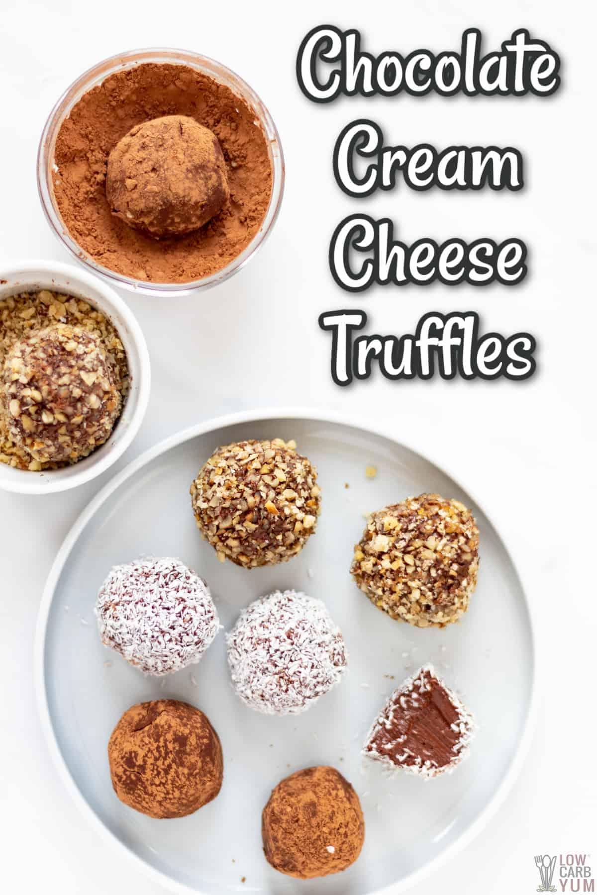 chocolate cream cheese truffles recipe cover image