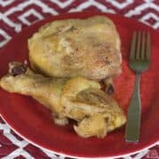 crock pot chicken legs and thighs featured image