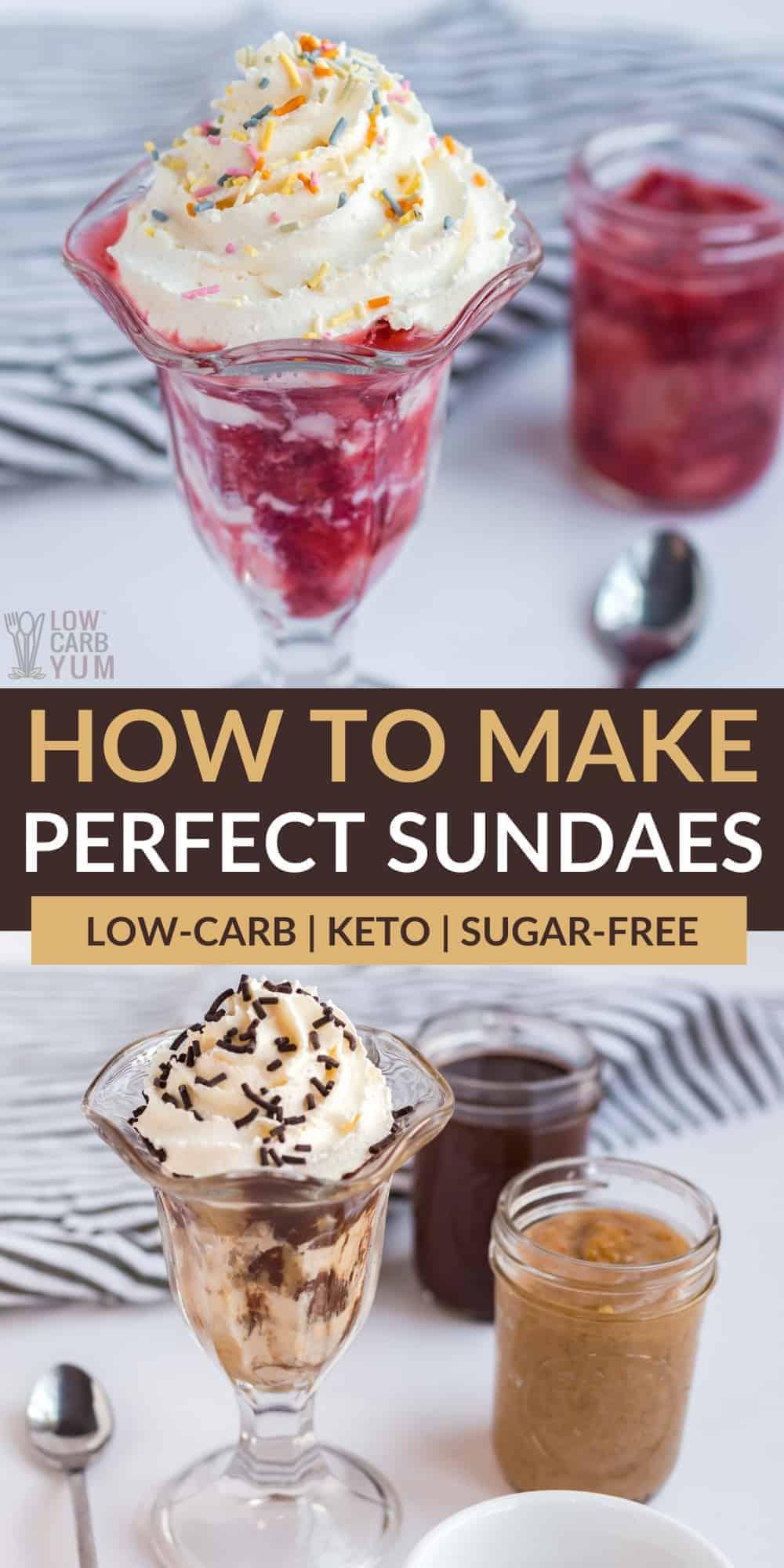 how to make perfect ice cream sundaes