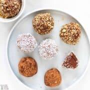 keto chocolate cream cheese truffles recipe featured image