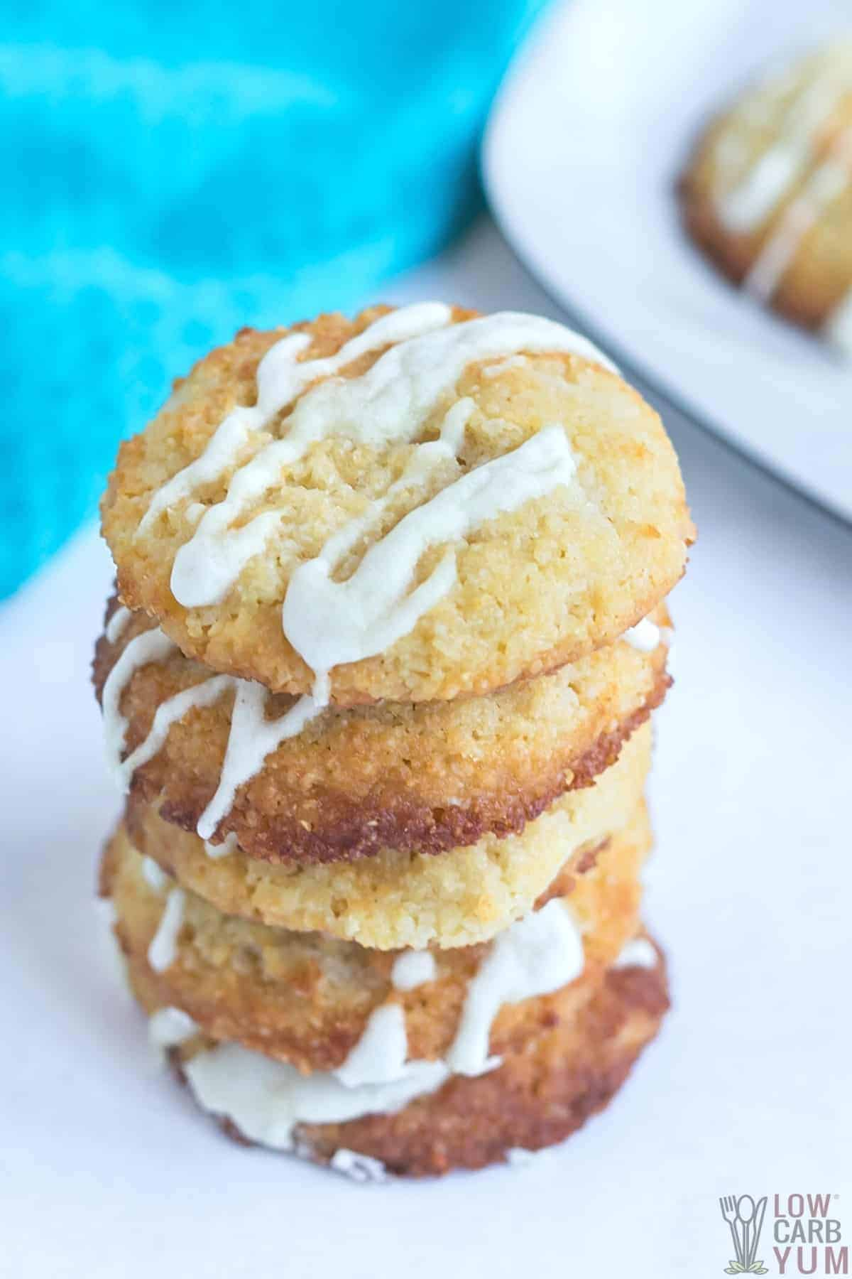 tall stack of ricotta cheese cookies